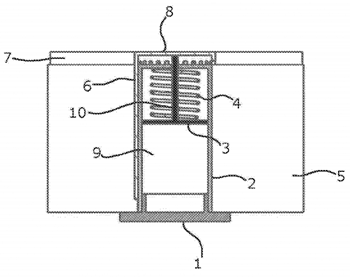Patent drawing of mechanically formable cooling device
