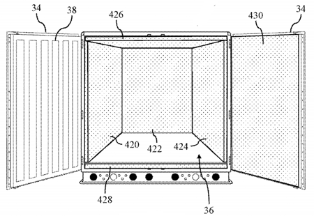 Patent drawing of shipping container